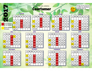Pour consulter le calendrier 2017